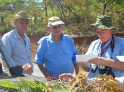 Peter, Jim and Mark in serious discussion. Photo: Dawn Siemers