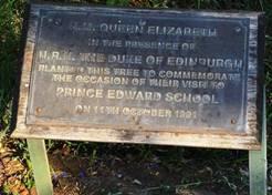 Plaque commemorating the visit of Queen Elizabeth to the school. Photo: Ryan Truscott