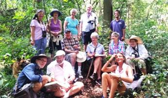 Taking a break in Madrugada Forest. Photo: Julie Stevenson