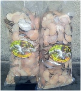 Mopane seeds collected and packaged